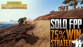 PUBG Solo FPP 75% Win Ratio Strategy | 7 Step Guide on How to Win More Consistently on Miramar