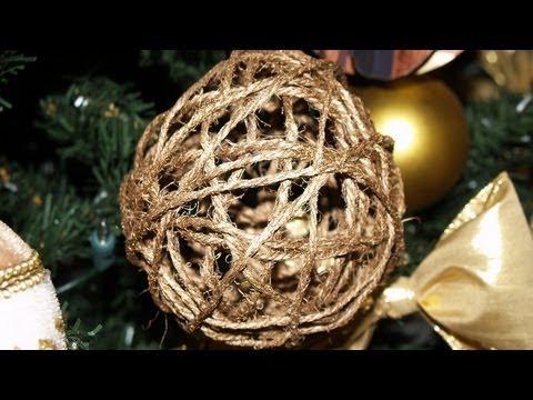 Adornos para el rbol de navidad 4 esferas de hilo for Adornos navidenos para el arbol