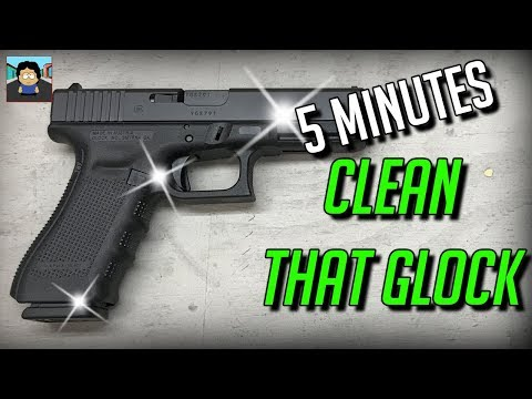 How To Clean A Gen 4 Glock 17 - 5 Minutes