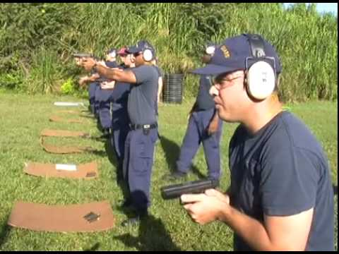 Coast Guard Weapons Training At The Range