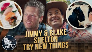 Jimmy And Blake Shelton Try Things Together   The Tonight Show Starring Jimmy Fallon