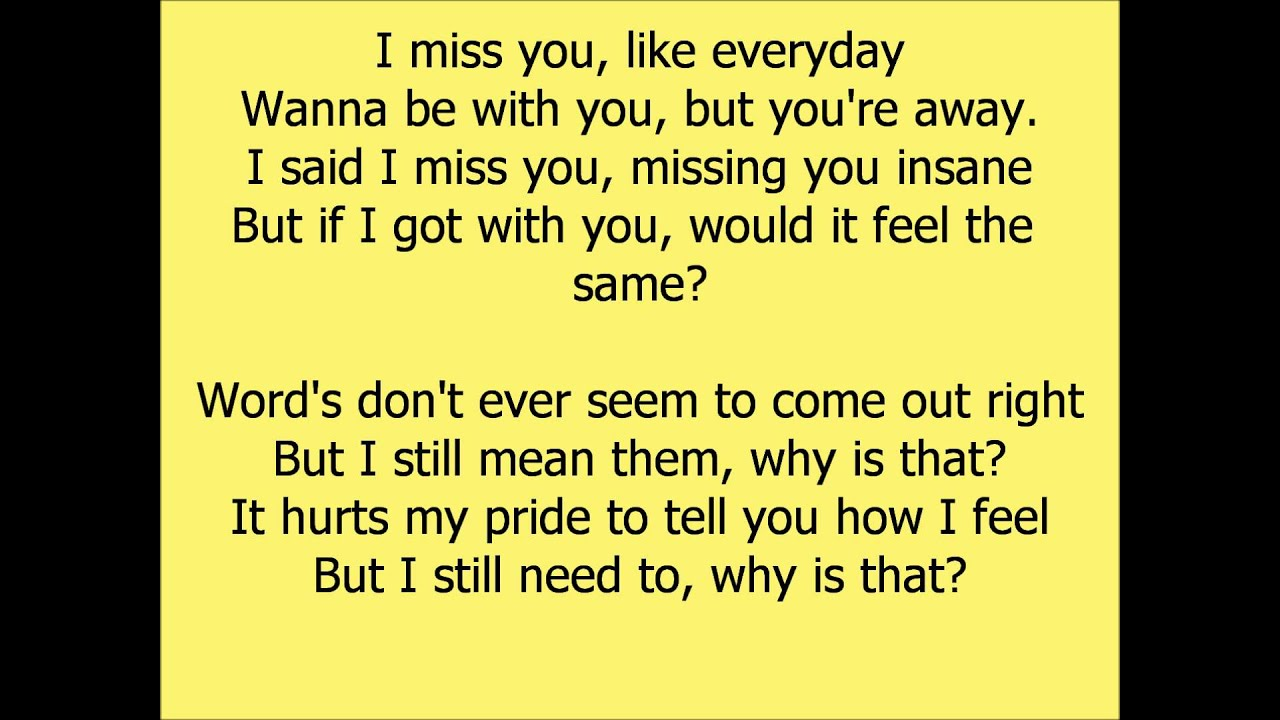 Lyrics to i miss you by beyonce