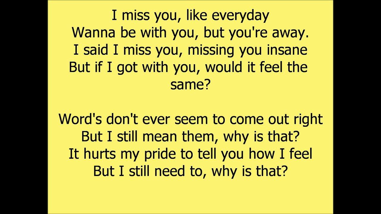 Beyonce- I Miss You lyrics - YouTube