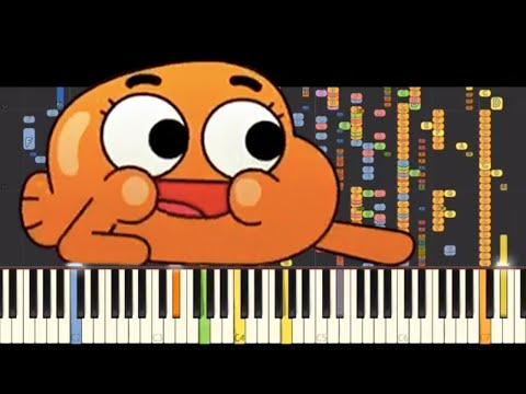 IMPOSSIBLE REMIX  Im On My Way  The Amazing World Of Gumball  Piano