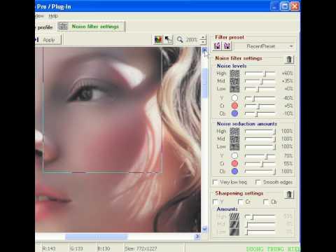 Photoshop CS2 - Phần 7 - Bài 3 - Mịn da median