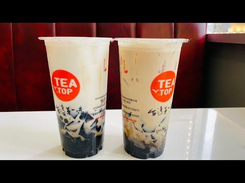 DELICIOUS BOBA MILK TEA AT TEA TOP In Milpitas California SF Bay Area