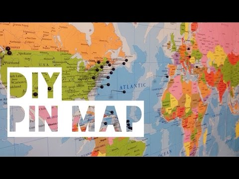 diy travel pin map youtube
