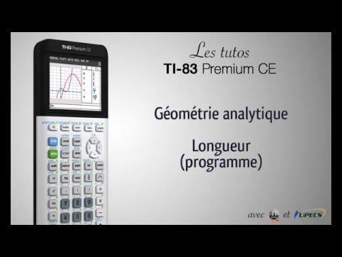 Tutorial TI-83 Premium CE : Longueur d