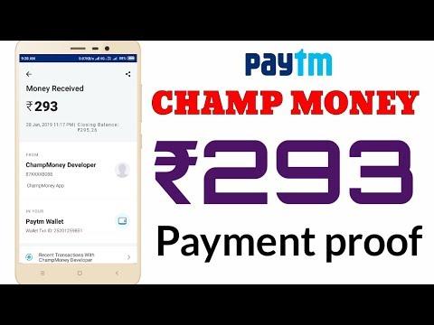 Champ money app payment proof |