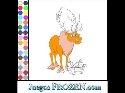 Juego Frozen Colorear Sven - YouTube