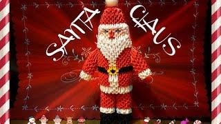 3D Origami Santa Claus tutorial part 2 || DIY paper Santa Claus 1 ... | 180x320