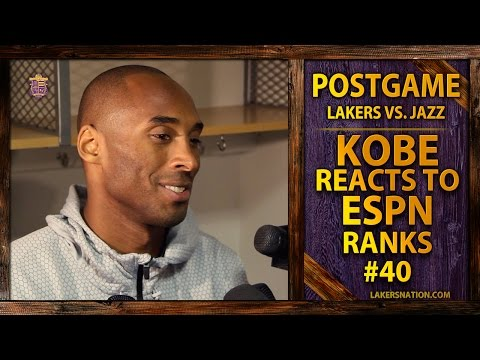 Here's Kobe Bryant's Reaction To Finding Out ESPN Ranked Him The 40th Best Player In The NBA