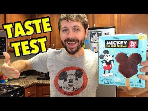 Mickey Ice Cream Bars from the Supermarket Taste Test!
