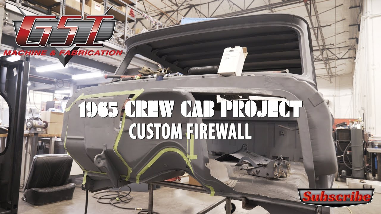 C10 Custom Firewall on the '65 Chevy Crew Cab - YouTube