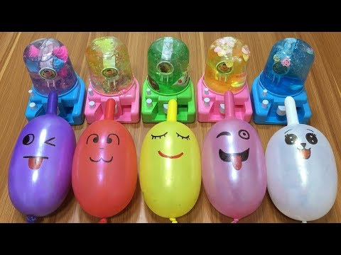 MIXING RANDOM THINGS INTO STORE BOUGHT SLIME!!! RELAXING SLIME WITH FUNNY BALLOONS!!