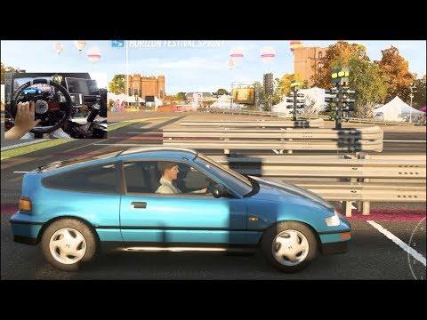 Forza Horizon 4 - CRX VTEC Is BACK!! Drag Racing Is Dissapointing.... (Fanatec Wheel)   SLAPTrain