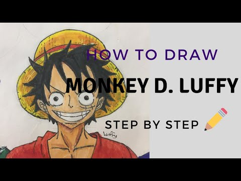 How To Draw Monkey D. Luffy From One Piece [Step By Step]