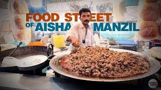 Food Street of Aisha Manzil, Karachi | Hyderabadi Sandwich & More | Pakistan Street Food