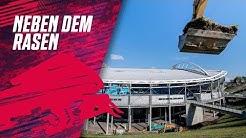 RB Leipzig Stadionumbau mit goldenem Baggerbiss offiziell gestartet