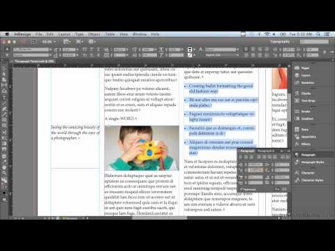 Adobe InDesign CC Tutorial   Positioning Paragraphs With Indents And Spacing