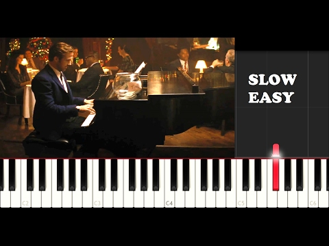 La La Land  A Lovely Night SLOW EASY PIANO TUTORIAL