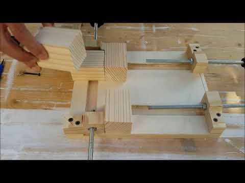 Tutorial come realizzazione una morsa o guida in legno per for Costruire una scala in legno per soppalco