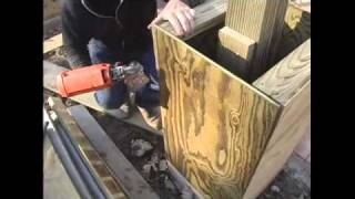 How To Build A Pergola - 14.attaching Plywood Sides