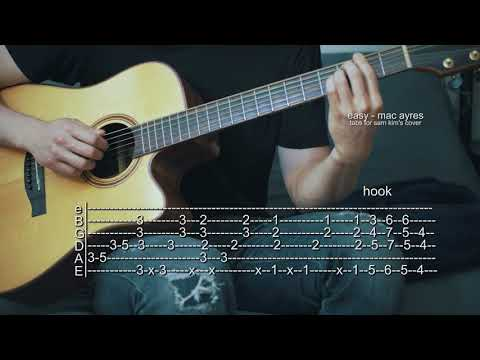 How To Play Easy - Mac Ayres - Guitar Tabs (Sam Kim Version)