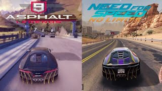 Asphalt 9 : Legends vs Need For Speed No Limits - Lamborghini Centenario Gameplay - HD 60fps