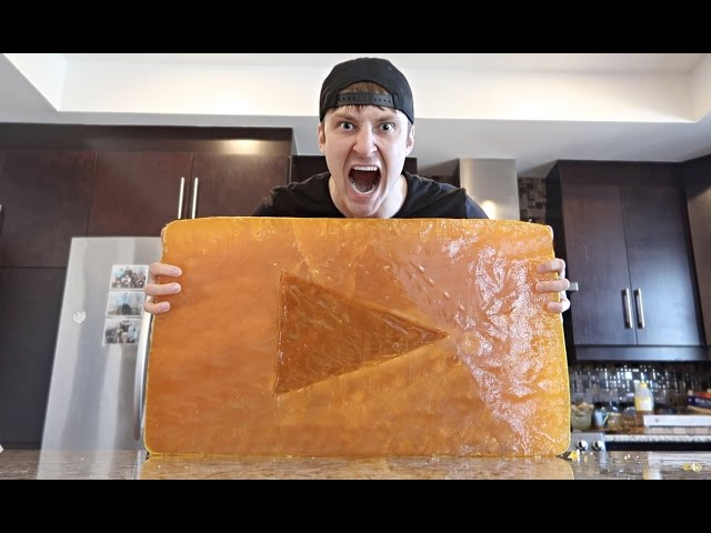 GIANT GUMMY GOLD PLAY BUTTON (WORLD RECORD 200+ LBS) IMPOSSIBLE?