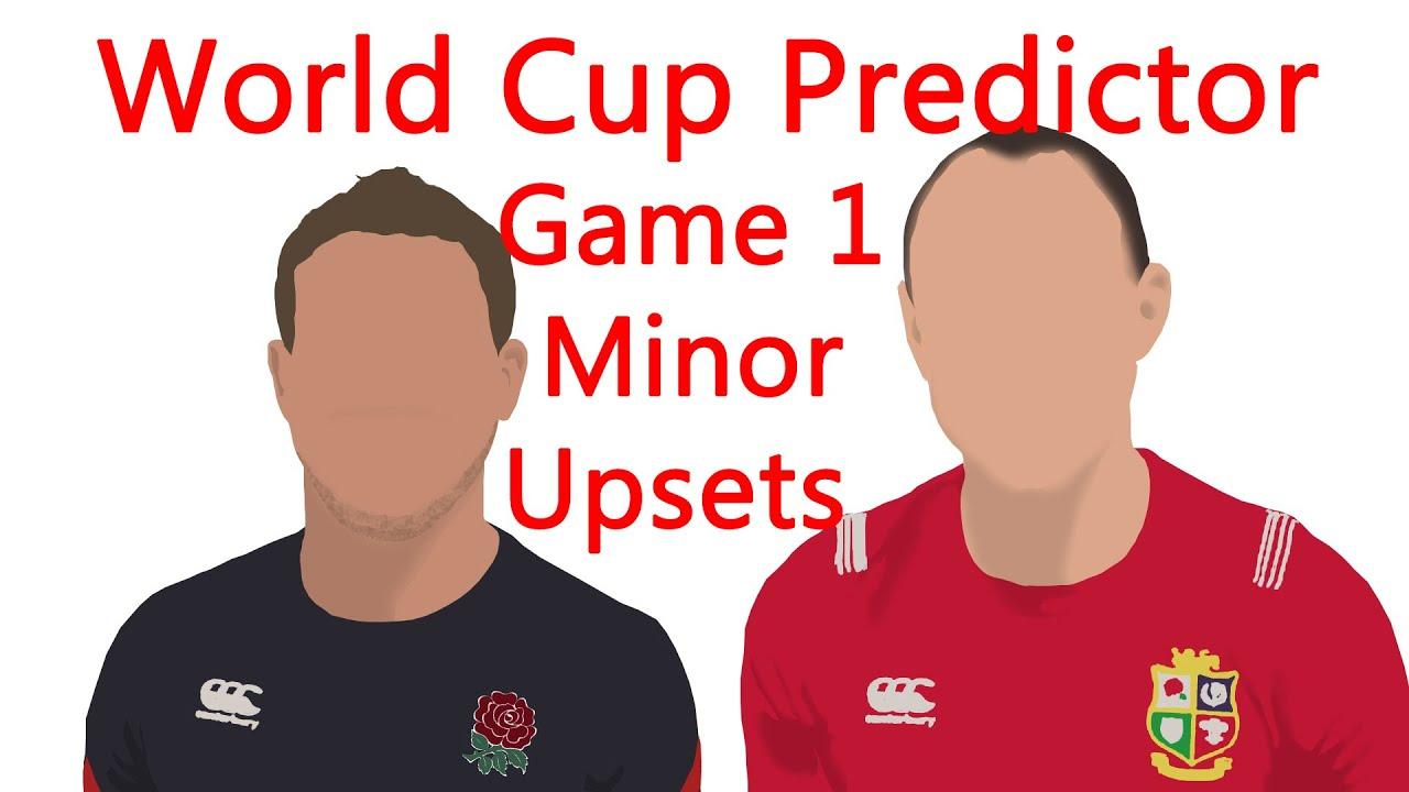 World Cup Predictor- RWC 2019- Game 1- Minor Upsets