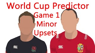 World Cup Predictor- RWC 2019- Game 1- Minor Upsets