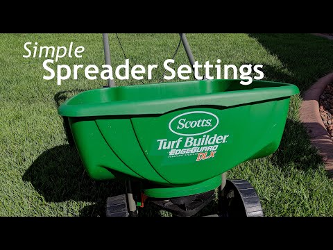 DIY Lawn Care - Which Spreader Setting To Use For Fertilizer Applications