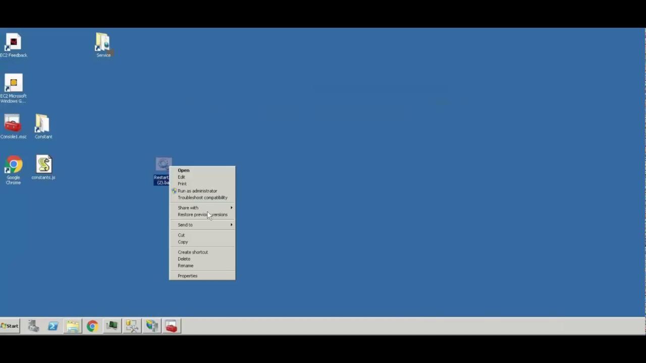 Batch File to Reset IIS