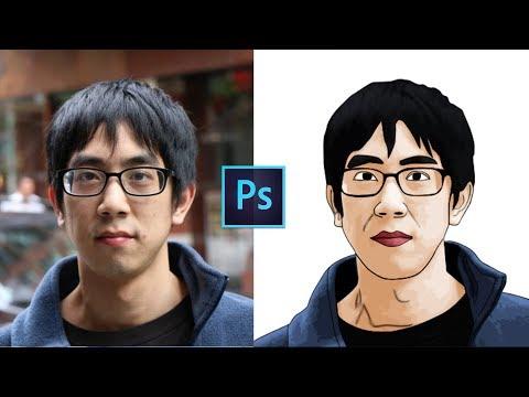 Photoshop Tutorials - How to create Cartoon Vector ART with the Pen tool