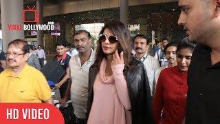 Priyanka Chopra at Mumbai International Airport to attend Virat & Anushka Sharma Wedding Reception