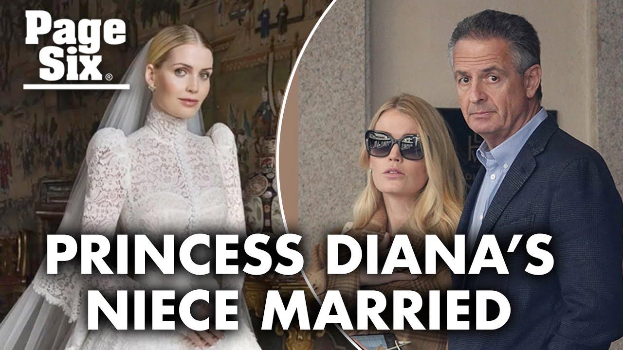 Princess Diana's Niece Lady Kitty Spencer Wore Five Wedding ...