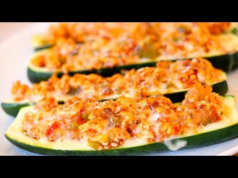 TURKEY STUFFED ZUCCHINI BOATS | Clean & Delicious®