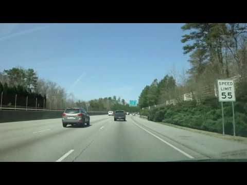 Driving from ATL Airport on Atlanta's Downtown Connector to Alpharetta