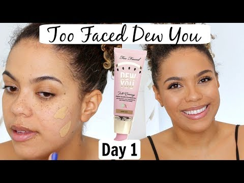 Too Faced Dew You Foundation Review/Wear Test   12 DAYS OF FOUNDATION DAY 1