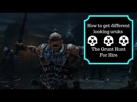 The Grunt Hunt For Hire - Shadow Of Mordor Gameplay - Part 1