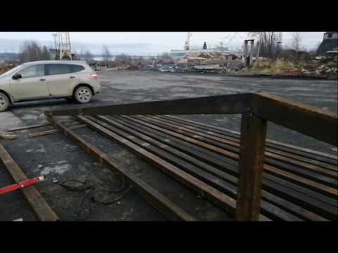 Строим автосервис каркас 2 этап