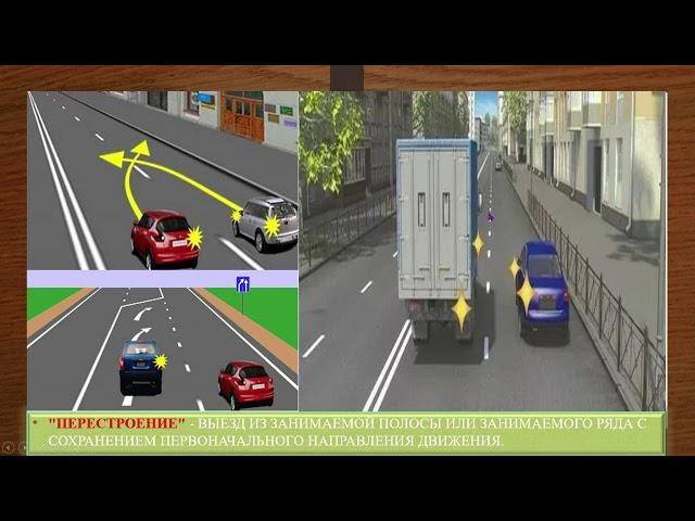 ПДД РФ. Урок № 8 – Общие положения. Парковка, пассажир, перекресток, перестроение, пешеход.