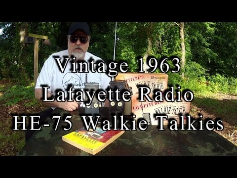 Vintage 1963 Lafayette Radio HE-75 Walkie Talkies