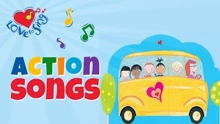Wheels on the Bus | Children Love to Sing & Dance Action Kids Songs Rhymes