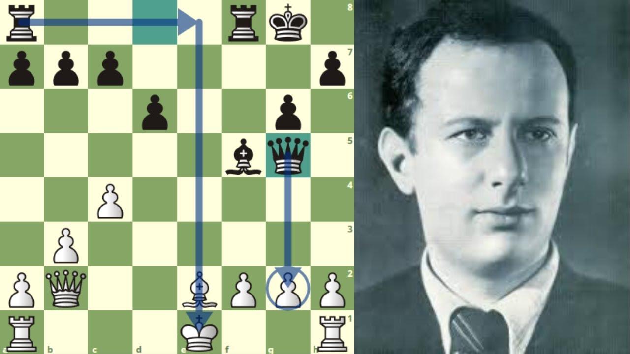 """SACRIFICA SU DAMA Y GANA CON """"EL MOLINO"""": Alatortsev vs Boleslavsky (Campeonato URSS, 1950)"""