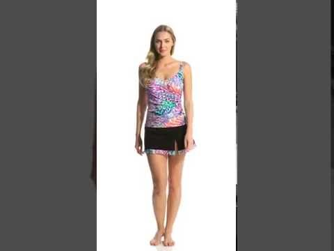 Profile By Gottex Canary Islands Neck Tankini Top Cup