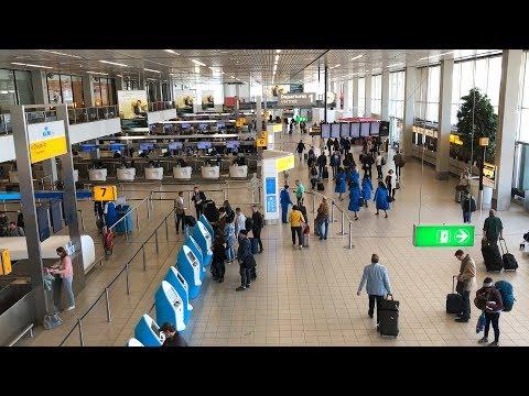 Schiphol Airport Amsterdam | Walkthrough Tour April 2018 HD