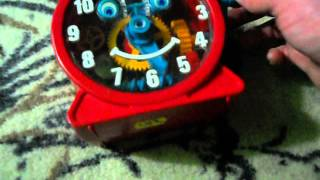 Tick Tock Toy Clock Rings Bell With Turn of the Crank