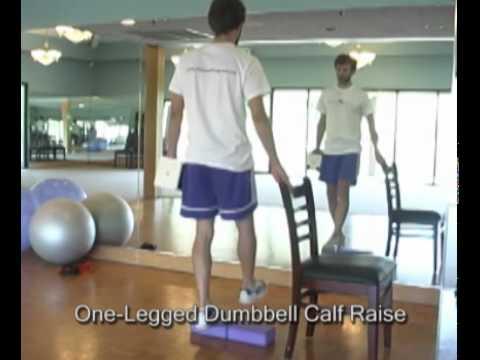 One Legged Dumbbell Calf Raise